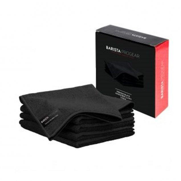 5 Premium Black Microfiber Cloths