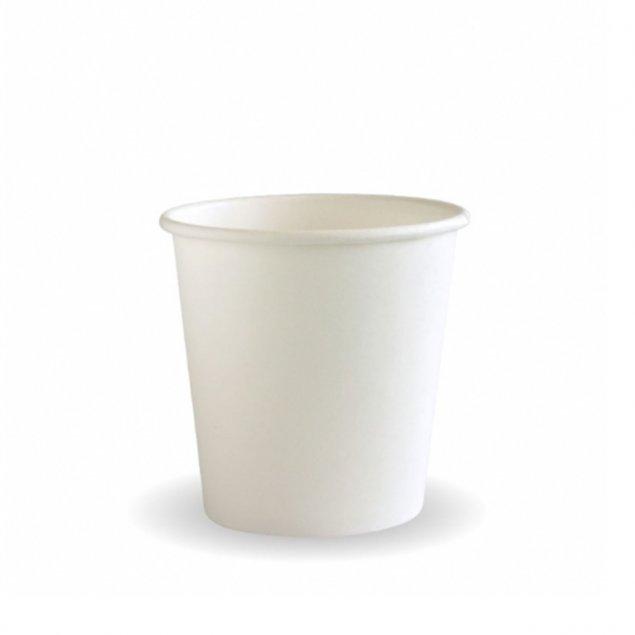 BioPak Single Wall 4oz Cups - White, Kraft, Art